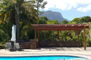Balau Pergola with polycarb roof sheeting in Constantia